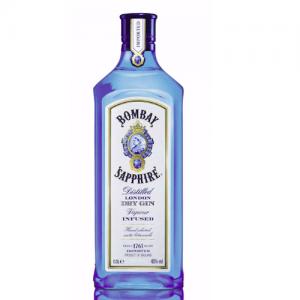 Klassische Blaue Bombay Sapphire Flasche
