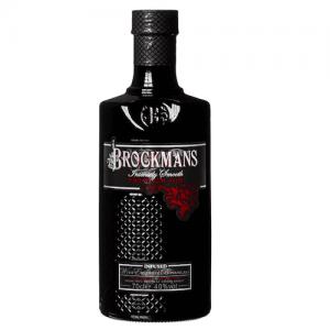 Schwarze Flasche der Marke Brockmans