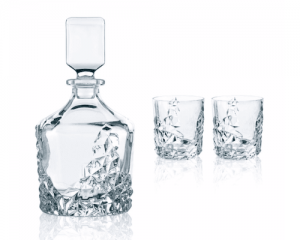 Runde Flasche für Schnaps